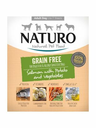 Obrázek Naturo Dog Grain Free Salmon & Potato with Vegetable 400 g