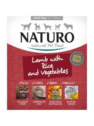 Obrázek Naturo Dog Adult Lamb & Rice with Vegetables, vanička 400 g