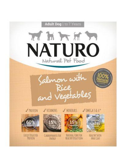 Obrázek z Naturo Dog Adult Salmon & Rice with Vegetables 400 g