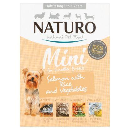 Obrázek Naturo Dog Adult Mini Salmon & Rice with Vegetables, vanička 150 g