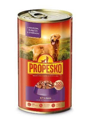 Obrázek PROPESKO DOG kousky 1240g hovězí+kuře+zvěřina-9029