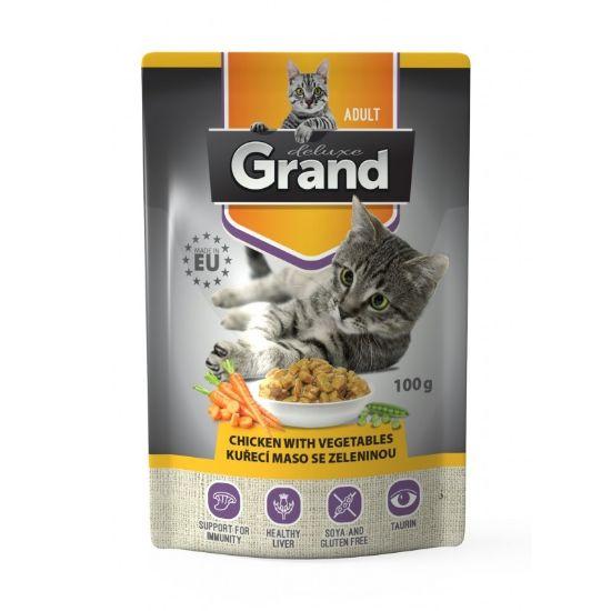 Obrázek z Grand deluxe Cat kuřecí maso se zeleninou 100 g