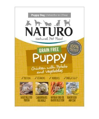 Obrázek Naturo Dog Puppy Chicken GF 150 g