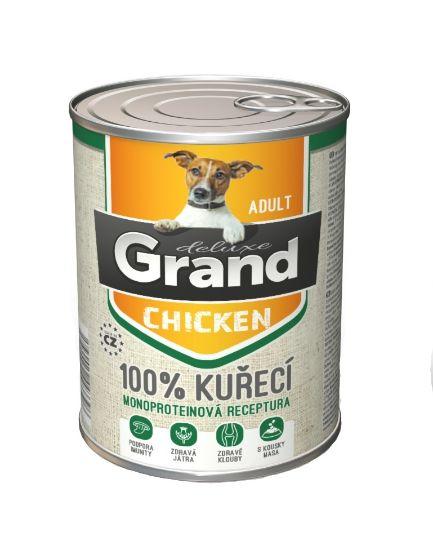Obrázek z Grand deluxe Dog Adult 100% kuřecí 820 g