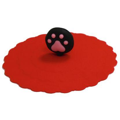 Obrázek Silikonový kryt s packou Croci červený