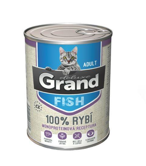 Obrázek z Grand deluxe 100% RYBÍ pro kočku 400g-15476