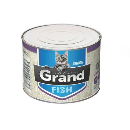 Obrázek Grand deluxe Cat Junior 100% rybí 180 g