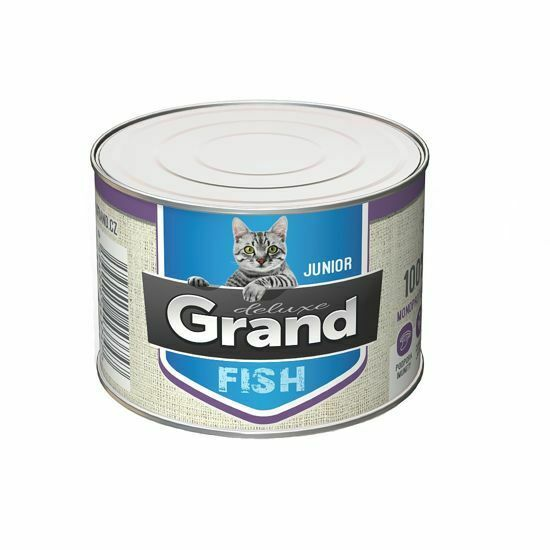 Obrázek z Grand deluxe Cat Junior 100% rybí 180 g