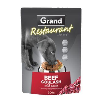 Obrázek Grand deluxe Resturant Hovězí guláš kapsy pro psy 300 g