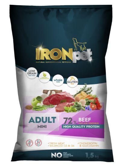 Obrázek z IRONpet Dog Mini Adult Beef (Hovězí) 1,5 kg