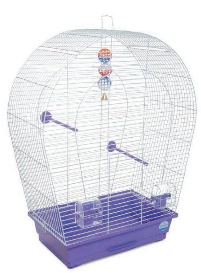 Obrázek z Klec pro ptáky Arka large s výbavou 44 x 27 x 75 cm