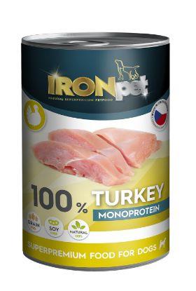 Obrázek IRONpet Dog Turkey (Krůta) 100% Monoprotein, konzerva 400 g