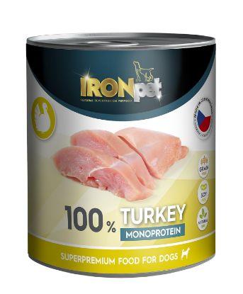 Obrázek IRONpet Dog Turkey (Krůta) 100% Monoprotein, konzerva 800 g