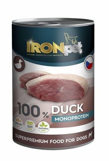 Obrázek z IRONpet Dog Duck (Kachní) 100% Monoprotein, konzerva 400 g
