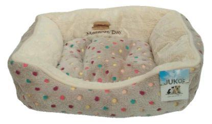 Obrázek Pelíšek s puntíky Extra soft Bed šedá  L 90 cm