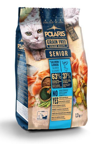 Obrázek z Polaris Cat Senior losos & kachna 1,2 kg