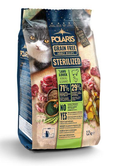 Obrázek z Polaris Cat Sterilized jehně & kachna GF 1,2 kg