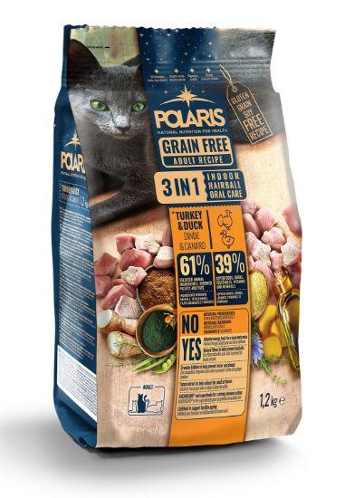 Obrázek z Polaris Cat Adult 3in1 krůta & kachna 1,2 kg
