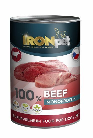 Obrázek z IRONpet Dog Beef (Hovězí) 100% Monoprotein, konzerva 400 g