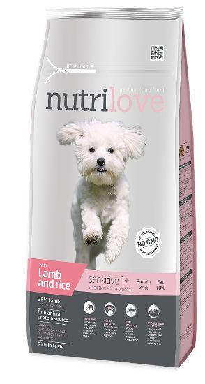 Obrázek z Nutrilove pes Sensitive Small Breed jehněčí, granule 8 kg