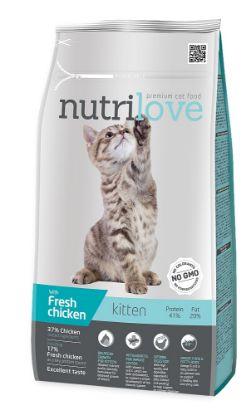 Obrázek Nutrilove kočka Kitten kuřecí, granule 1,4 kg