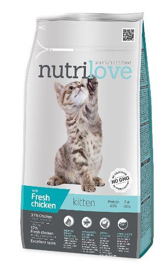 Obrázek z Nutrilove kočka Kitten kuřecí, granule 1,4 kg