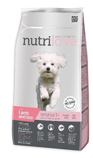 Obrázek z Nutrilove pes Sensitive Small Breed jehněčí, granule 1,6 kg