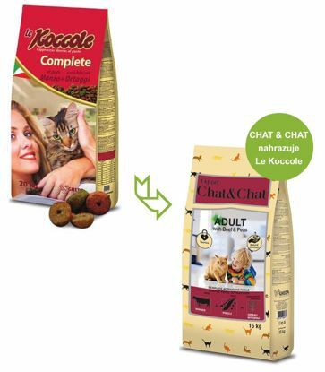 Obrázek Chat & Chat Expert Adult Beef & Peas 15 kg