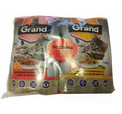 Obrázek Grand deluxe kapsa pro kočku 6 ks 100 g mix