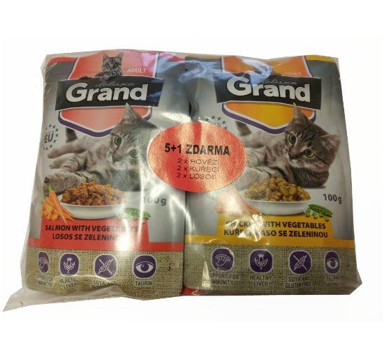 Obrázek z Grand deluxe kapsa pro kočku 6 ks 100 g mix