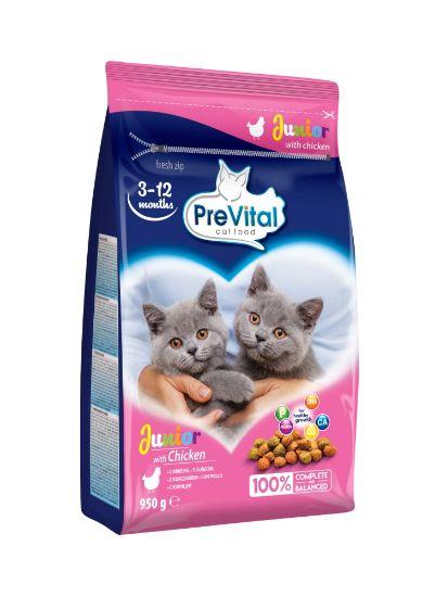 Obrázek z PreVital kočka junior kuřecí, granule 0,95 kg