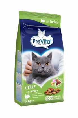 Obrázek PreVital kočka steril krůtí, granule 1,4 kg