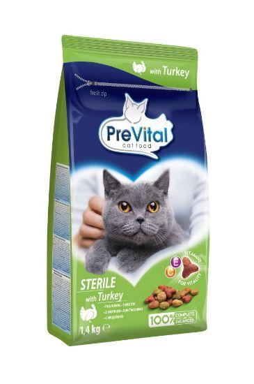 Obrázek z PreVital kočka steril krůtí, granule 1,4 kg
