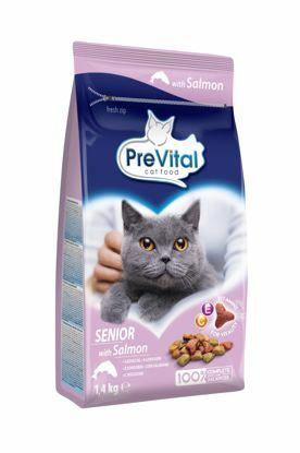 Obrázek PreVital kočka senior losos, granule 1,4 kg