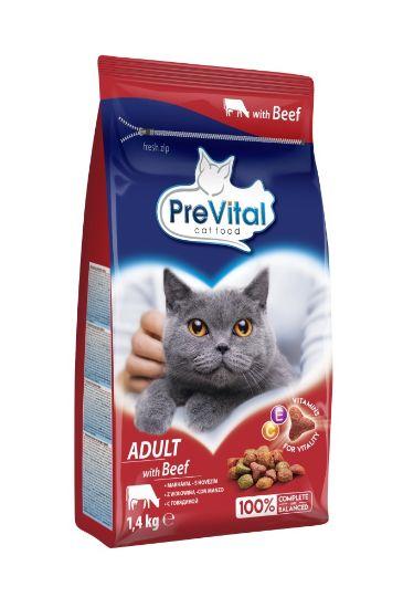 Obrázek z PreVital kočka hovězí, granule 1,4 kg