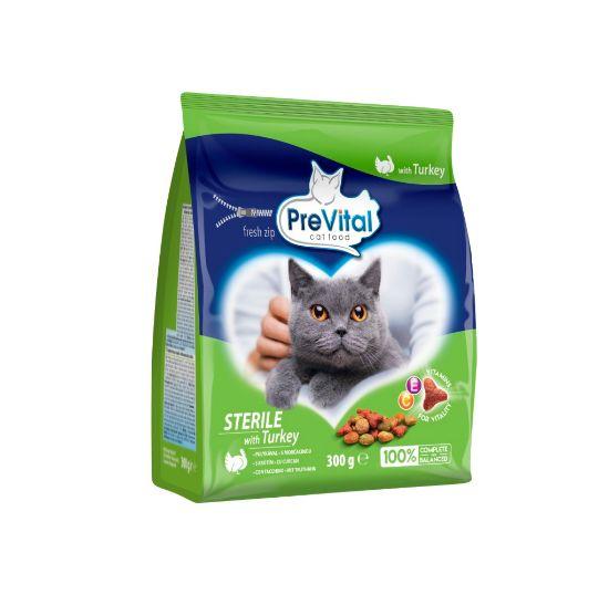 Obrázek z PreVital kočka steril krůtí, granule 0,3 kg