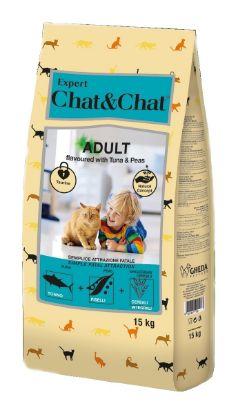 Obrázek Chat &Chat Expert Adult s tuňákem a hráškem 15 kg