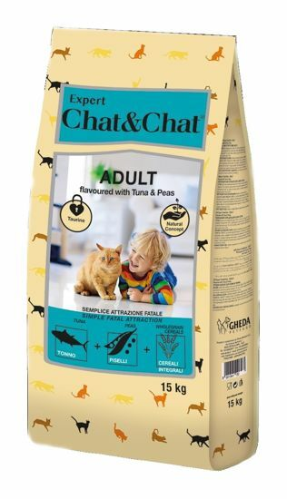 Obrázek z Chat &Chat Expert Adult s tuňákem a hráškem 15 kg