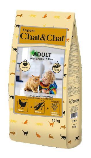 Obrázek z Chat & Chat Expert Adult  kuřecí s hráškem 15kg