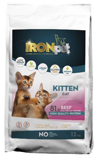 Obrázek z IRONpet Cat Kitten Beef 12 kg