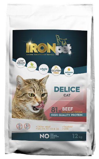 Obrázek z IRONpet Cat Delice Beef 12 kg