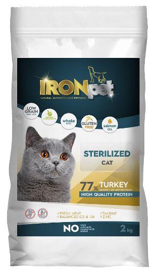 Obrázek z IRONpet Cat Sterilized Turkey 2 kg
