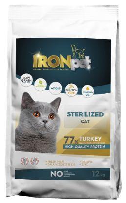 Obrázek IRONpet Cat Sterilized Turkey 12 kg