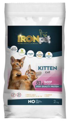 Obrázek IRONpet Cat Kitten Beef 2 kg