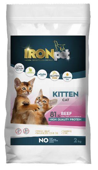 Obrázek z IRONpet Cat Kitten Beef (Hovězí) 2 kg