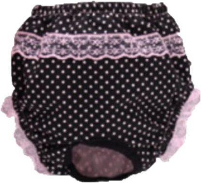 Obrázek HARA kalhotky s růžovými puntíky a krajkou M 30/35cm