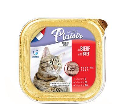 Obrázek Plaisir Cat hovězí, vanička 100 g