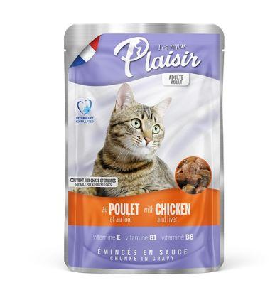Obrázek Plaisir Cat kuřecí & játra, kapsička 100 g