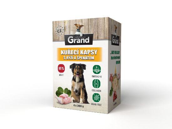 Obrázek z Grand deluxe Dog kuřecí, kapsička 4 x 300 g