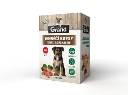 Obrázek Grand deluxe Dog jehněčí, kapsička 4 x 300 g